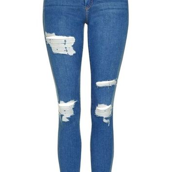 Topshop Moto 'Leigh' Super Ripped Ankle Skinny Jeans | Nordstrom