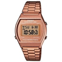 Rose Gold Retro Watch by Casio