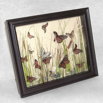 Butterfly Shadow Box of Magnificent Monarchs