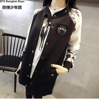 KPOP - BTS Baseball Long-sleeved Jacket