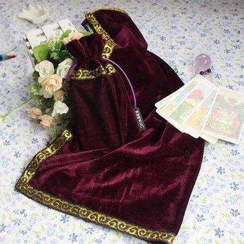 Family Friends party Board game Purple Tarot Tablecloth With Bags, High Quality Flocking Fabric , Tarot  Accessories By Hand ,Free Shipping AT_41_3