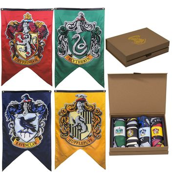Harry Potter House Crests Wall Banner Gift Set - Set of 4 Houses