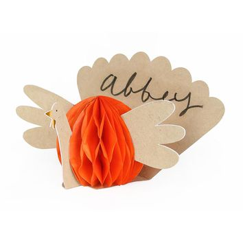 Thanksgiving Turkey Honeycomb Place Cards