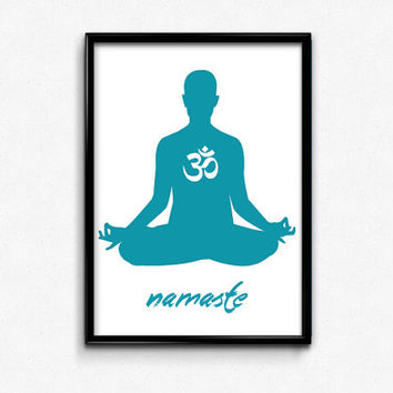 Lotus, Om, Namaste, Yoga, Yogi, Spiritual, Wall Art, Printable, Print, Home, Decor, Art, Gifts