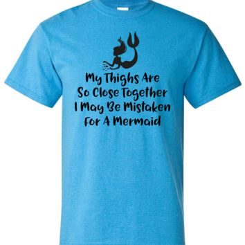 Funny Mermaid Shirt Short Sleeve Shirt
