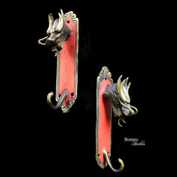 Dragon Coat Hook/Jewelry Hook/Hat Hook/Wall Hook Decorative Animal Theme; Eastern Dragon 14.5CM Wall Holder Coat Hanger Coat Rack (Set Of 2)