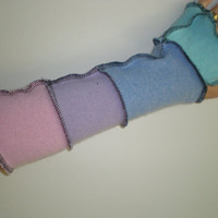 CASHMERE armwarmers fingerless gloves 13 inch pastels