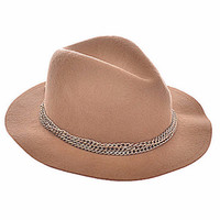 Chain Lined Fashion Fedora- FINAL SALE