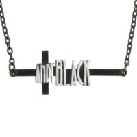 Andy Black Cross Necklace