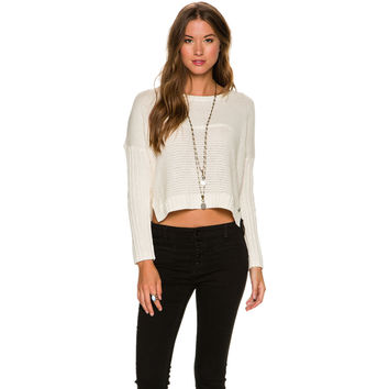 ROXY ROXY TRUE TO YOUR SCHOOL CROPPED SWEATER