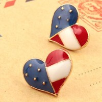 Nice Heart flag earrings for girls