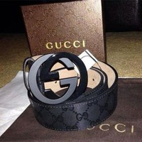 Gucci Girls Boys Leather Belt