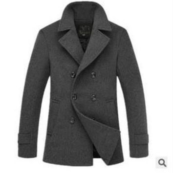Wool Men Coat Casual Men's Fashion Jacket [6528919427]