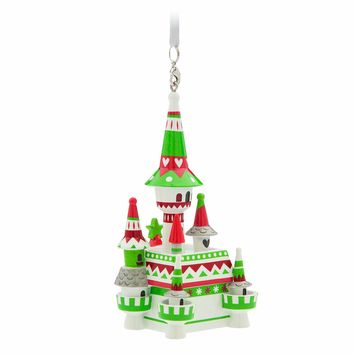Disney Parks Nordic Winter Fantasyland Castle Holiday Ornament New with Tags