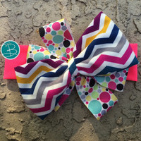 Bright Colors and Pink Bow Headband