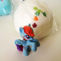 Surprise Bath Bomb with Sprinkles and Surprise My Little Pony Inside! MLP Party Idea - 5 oz Bath Fizz - Lush Bath Bomb for Kids!