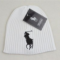 Polo Ralph Lauren Woman Men Fashion Beanies Winter Knit Hat Cap
