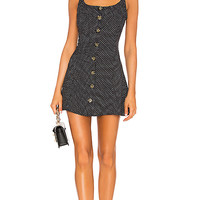 LPA Button Up Tank Fit and Flare Dress in Ditsy Dots