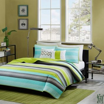 Tess Coverlet Set - Teal - Gifts for You and Me
