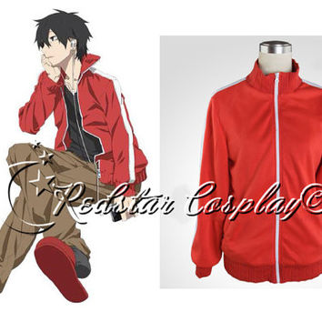 Anime Kagerou Project Kisaragi Shintaro Red Cosplay Sweater Hoodie Costume