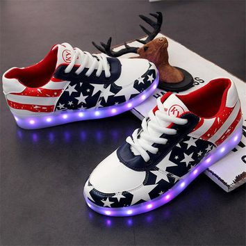 ac PEAPON Stylish Bright Colorful Creative Casual Shoes Multi-color Lightning Lights [9257113740]