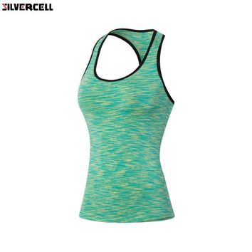 S-XXL Summer Sexy Fitness Clothes Women Tank Tops Workout Sleeveless Quick Dry Vest Singlet For Women T-shirt