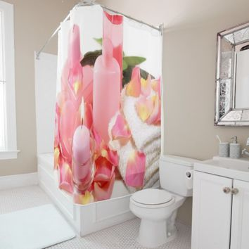 Pink Spa Shower Curtain