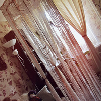 Gypsy Bedroom Decor - Bed Crown - Boho Nursery - Bohemian Dreamcatcher Canopy -  Made to Order