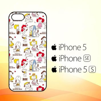 SNOOPY PEANUTS W4471  iPhone 5|5S|SE Case