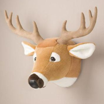 Deer Head Stuffed Animal Wall Mount