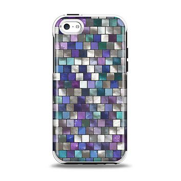 The Mosaic Purple and Green Vivid Tiles V4 Apple iPhone 5c Otterbox Symmetry Case Skin Set