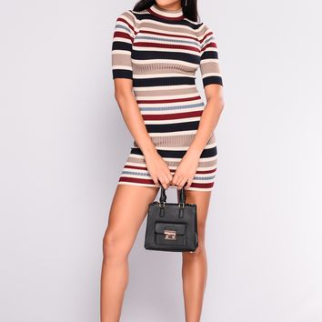 Good All Around Striped Dress - Multi