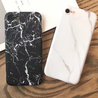Natural Texture Marble iPhone 7 7Plus & iPhone se 5s 6 6 Plus Case Best Protection Cover +Gift Box-129