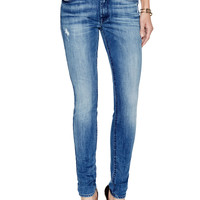 7 for All Mankind Women's Squiggle Skinny Fit Jean - Blue -