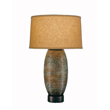 Remington Lamp 2373 Hammered Brass Etruscan Table Lamp