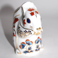 Royal Crown Derby Squirrel Paperweight First Quality Vintage Bone China Gilded Imari Animal Figurine Collectibles Home Decor Gift