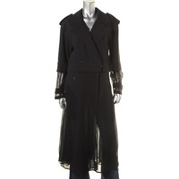 DKNY Womens Convertible Sheer Trench Coat