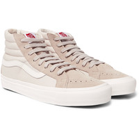 Vans - OG Sk8-Hi LX Leather-Trimmed Suede and Canvas High-Top Sneakers