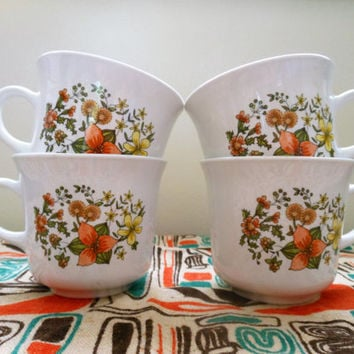 Corelle Indian Summer Coffee Mugs Corningware Indian Summer Cups Set of Four Vintage Corning & Shop Corningware Set on Wanelo