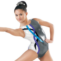 Metallic Swirl Streamer Gymnastic Leotard - Balera