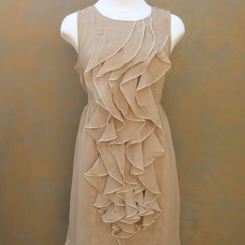 Falling Ruffled Layered Chiffon Shift Dress