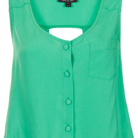 Sleeveless Cut-out Back Suntop - Topshop USA