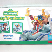 NIB 1990's Fisher Price, Baby Fun Centre, Sesame Street, CTW, Antique Alchemy