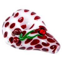 Dynomite Glass - HEART SHAPED DOTTED SPOON W/ CHERRIES