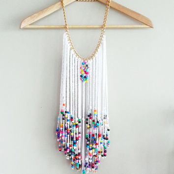 Festival Jewelry, Beaded Braided Necklace, Statement Necklace, Jewelry, art jewelry, art of Jewelry, wall art, deco jewelry, art deco,