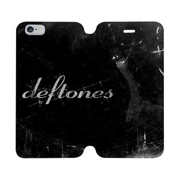 DEFTONES ROCK BAND Wallet Case for iPhone 4/4S 5/5S/SE 5C 6/6S Plus Samsung Galaxy S4 S5 S6 Edge Note 3 4 5