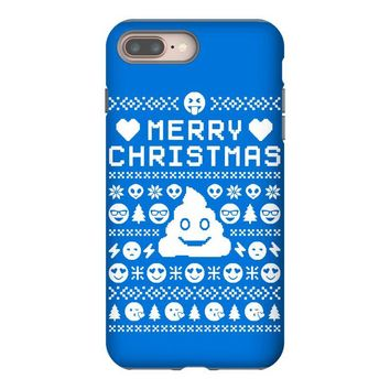 funny ugly christmas smiley emoticon iPhone 8 Plus
