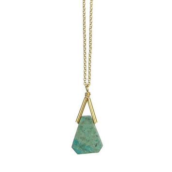 Rio Triangle Gemstone Necklace