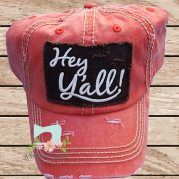 Red Hey Yall Hat