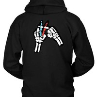 DCCKG72 Twenty One Pilots Skeleton Hand Hoodie Two Sided